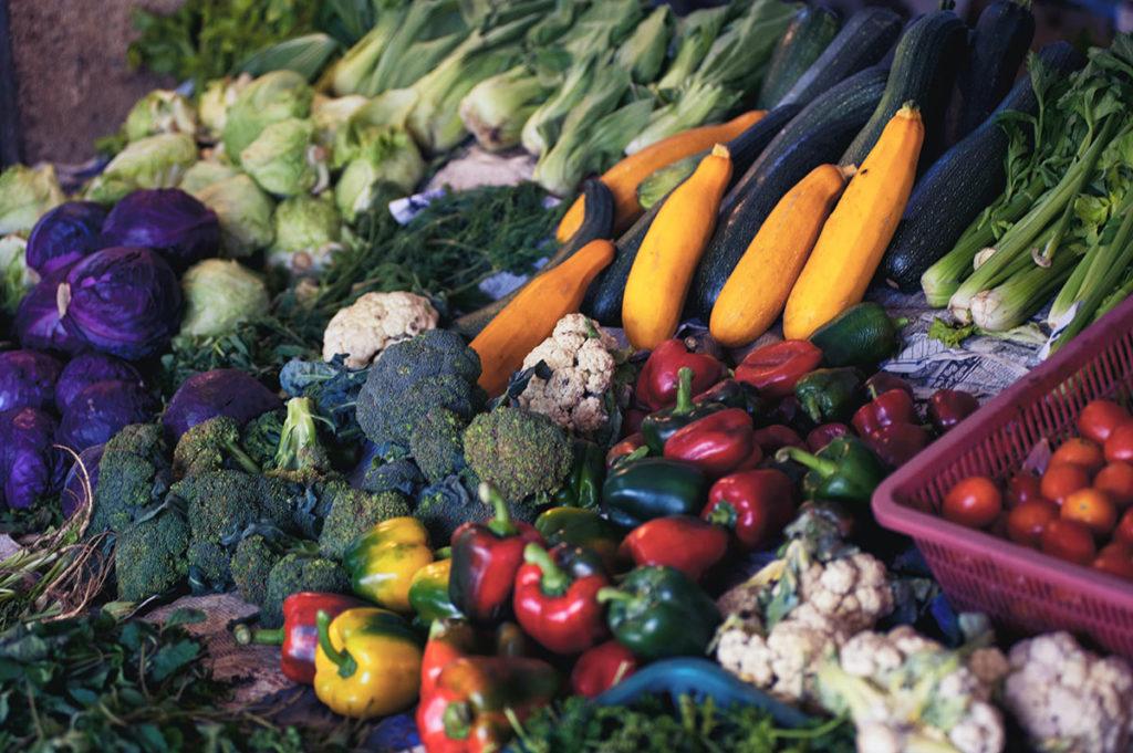warzywa na targu