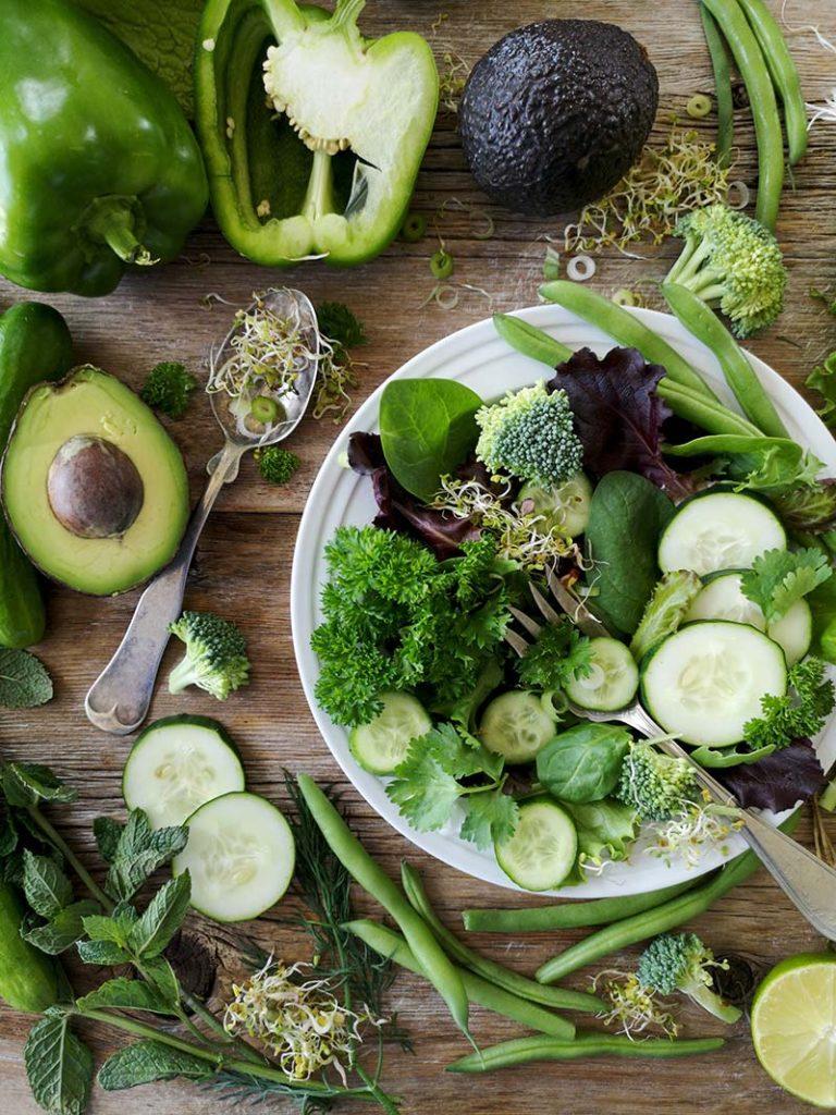 zielone warzywa
